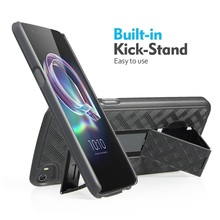 Dual Kickstand Belt Clip Heavy Duty Armor Holster Combo Mobile Phone Case for Alcatel idol 5
