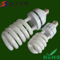 Half Spiral CFL 80W Wholesale Tri-color Energy Saving Bulbs