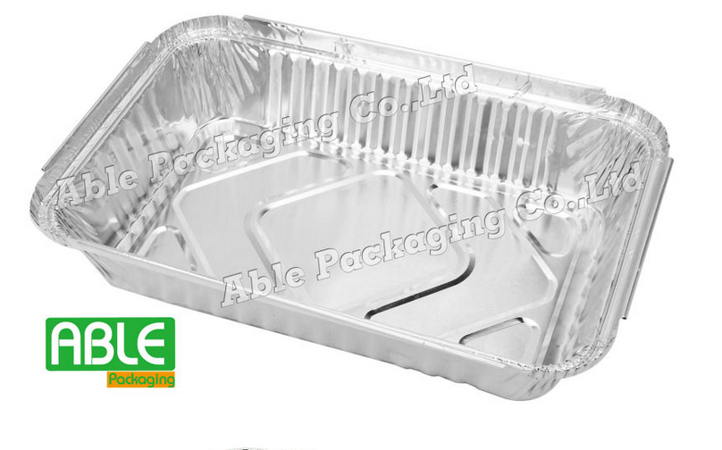 hot sell aluminum foil container with board lid in Europe market
