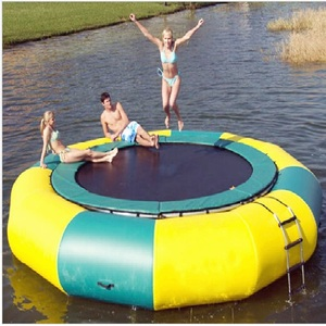wholesale children trampoline park kids inflatable water jumping trampoline