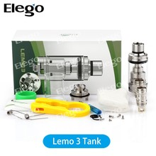 Elego Supply 2016 Top filling Eleaf 4ml Lemo 3 Atomizer With wholesale price vs Cubis Pro/Nautilus X