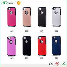 Hot Products Slim Armor Case Hard Armor Case For iphone 7 /7 plus pc silicon 2 in 1 shockproof brushed