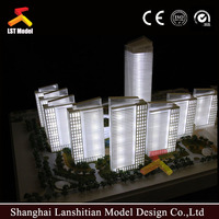 maquette rendering miniature architectural scale model with light
