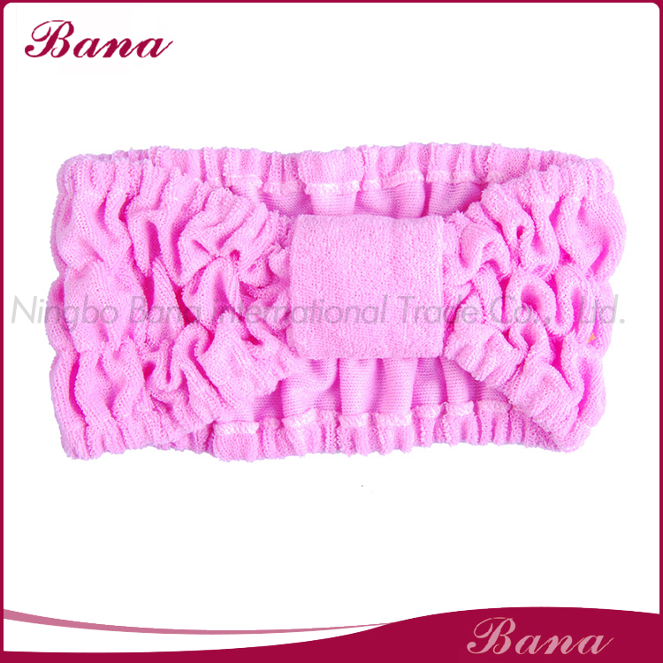 Makeup pink colour terry head band