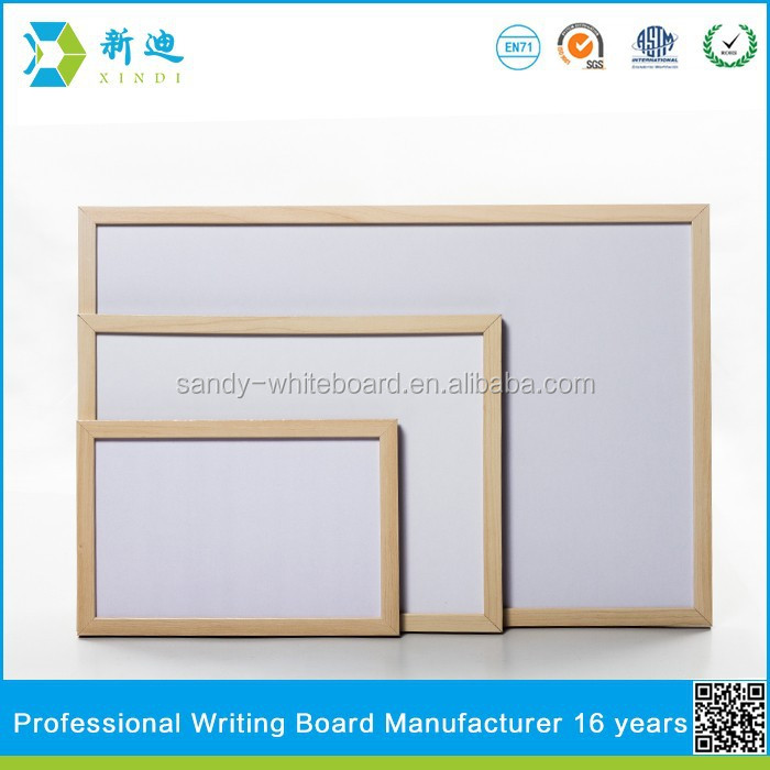Lanxi xindi high quality magnetic whiteboard with wooden frame
