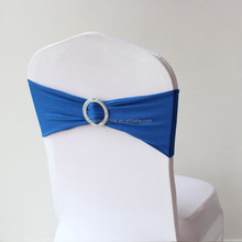 Wholesale Spandex Chair Cover Sash Bows Elastic Chair Band With Buckles