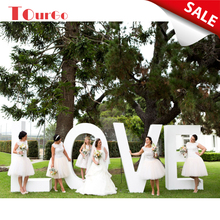 TourGo 4ft Free standing rusty metal love lights letters for wedding decoration led love letters