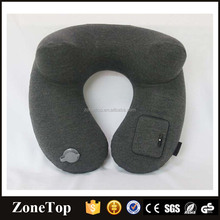 Electric inflatable pillow alrplane self inflate pillow