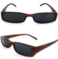 2012 new design small reading glass dark red frame and black lens