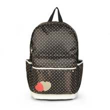Canvas Candy Color Backpack Black Rucksack for Students Strong Satchel SJ158