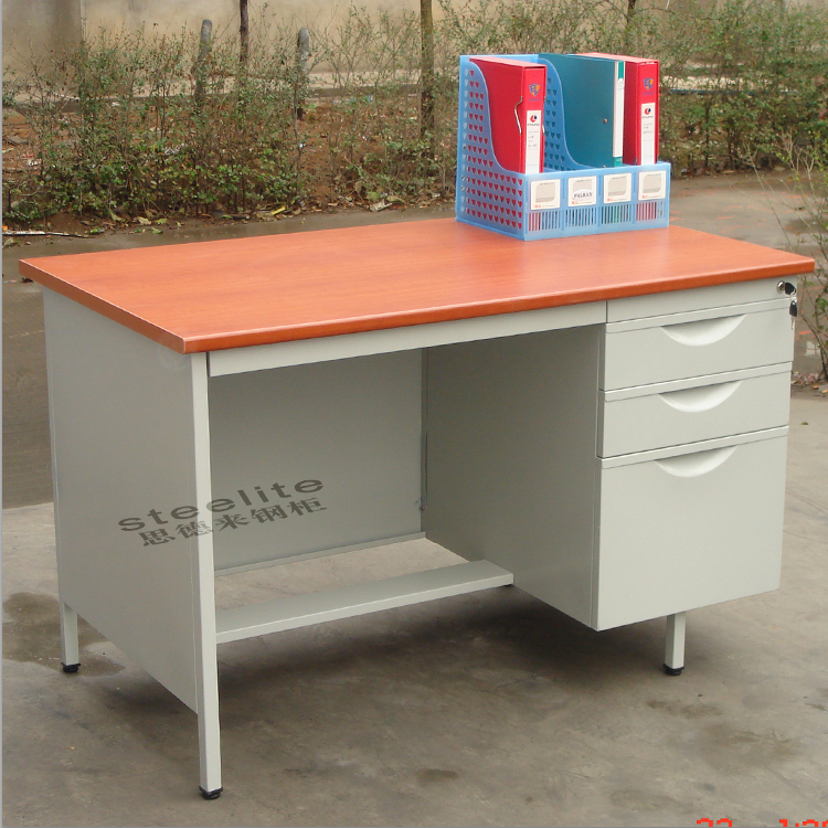 Luoyang factory sale steel School Furniture cheap teacher desk