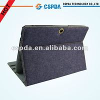 For Asus Transformer TF300 slim folio jeans case with multi-angle stand