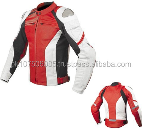 Customized Black CE Approved Protections Motorcycle Racing Leather Jacket
