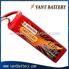 rechargeable rc lipo battery 7.4V/11.1V/14.8V/18.5V/22.2V 45C 3300mah rc li-polymer battery for RC airplane