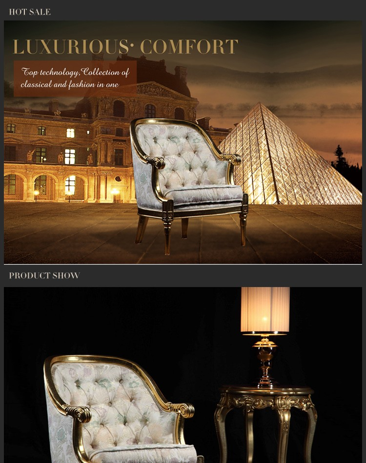 italian wooden furniture chair classical hotel furniture