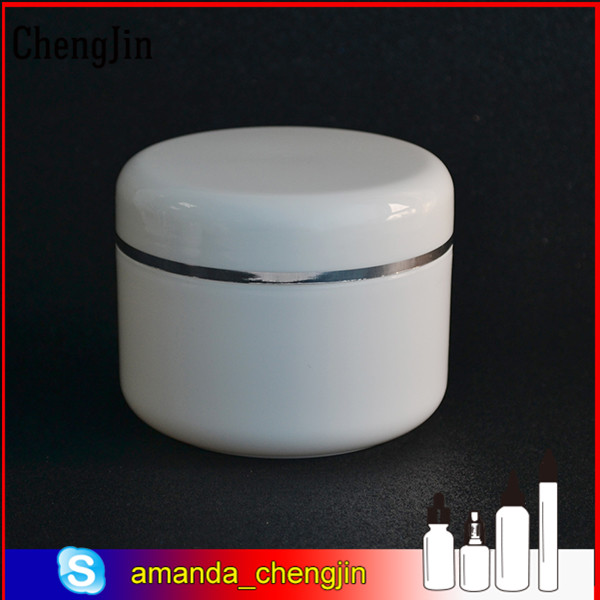 2016 New Brand 50g white cream plastic jars wholesale Alibaba