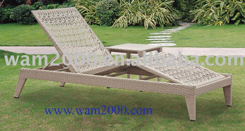 patio garden aluminum pe rattan lounge chair for outdoor