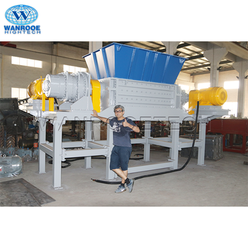 Twin As E Afval Schroot Plastic Shredder Recycling Machine