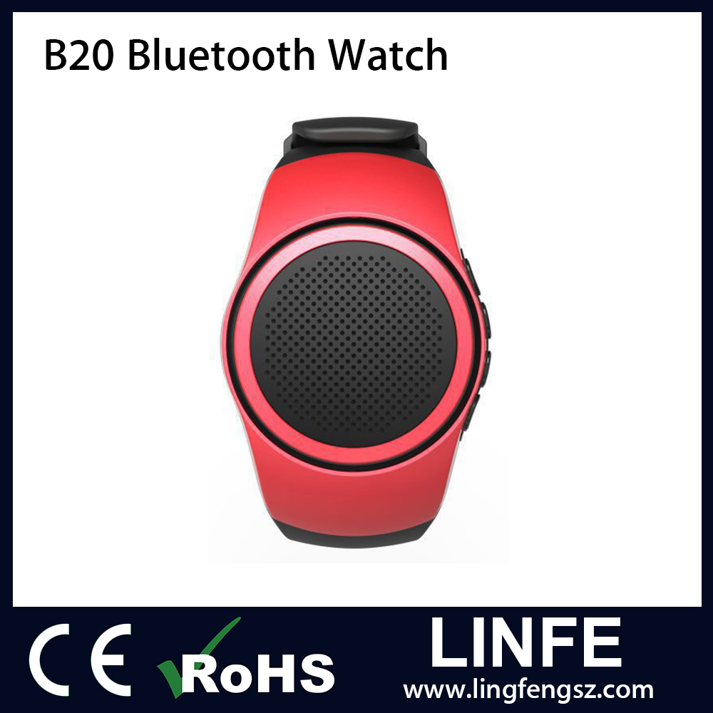 B20 Bluetooth Speaker Running Sport Music watch Portable Mini Watch Bluetooth 2.1+EDR Sport Speaker TF Card FM Audio