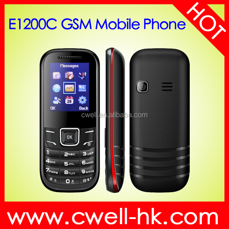 UNIWA E1200C 1.77 inch Display GSM Quad Band Dual SIM Card 0.08MP Camera Large Fonts Keypad Very Low Cost Mobile Phones