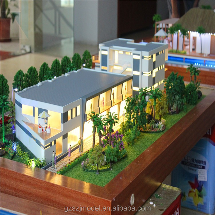 3d rendering design house model/ho scale model/miniature architectural model