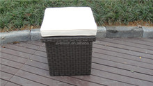 Outdoor Furniture Waterproof Rattan Storage Boxs With Cushion