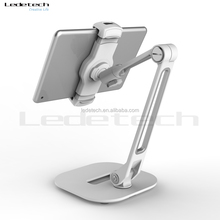 Durable Flexible Long aluminum arm metal plate base kitchen bed swivel foldable laptop stand for iphone ipad pc tablet pad phone