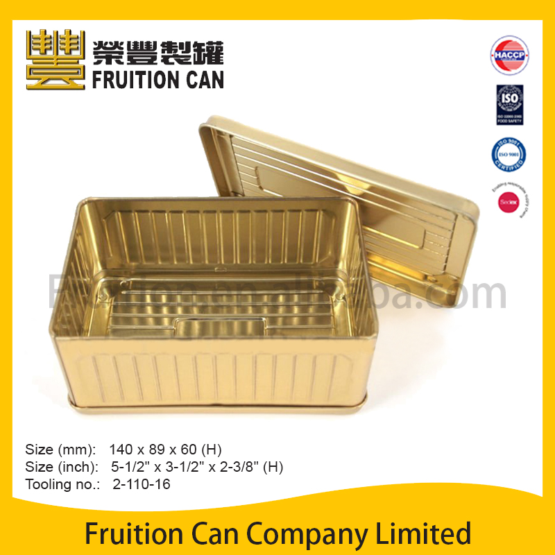 Tin can manufacturer Rectangular Toy Container with Slip Cover prices of tin tin case