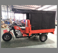 3 wheel motorcycle, 175cc tricycle cargo, motor trike with cloth cover load 800kgs