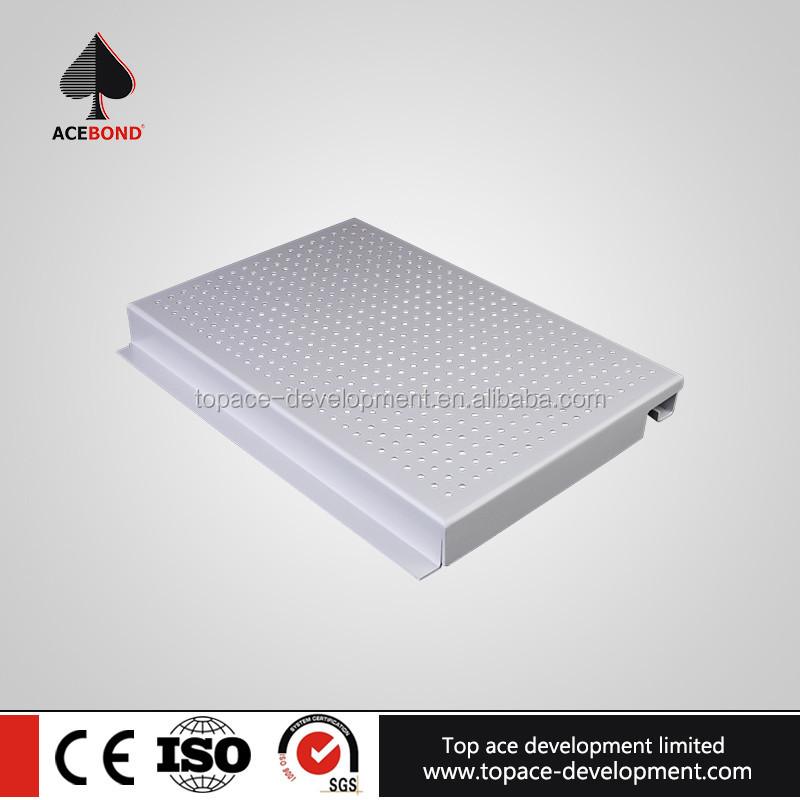 Durable aluminum perforated panel beams