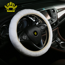 Hot Sale Colorful Anti-slip best selling car accessories professional sheepskin lambskin truck wool car steering wheel covers