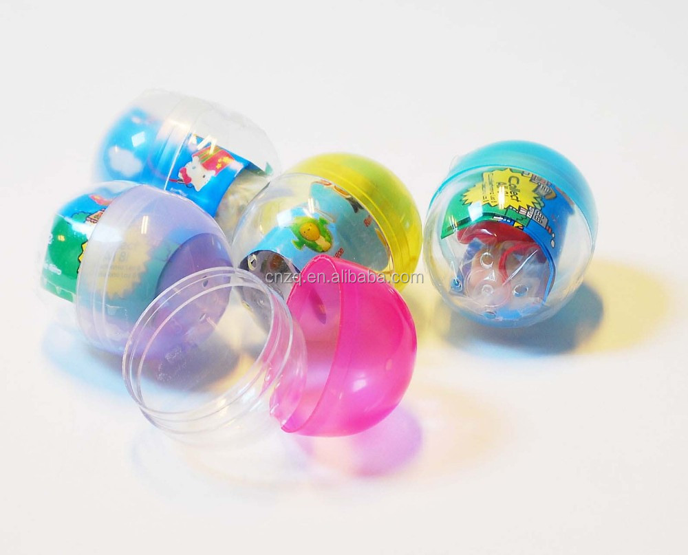 Colourful Japanese Plastic Gashapon Capsule Toys for Vending Machine