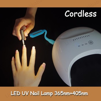 portable LED nail lamp battery powered coreless 365+395nm UV LED 30k led nail gel lamp nail