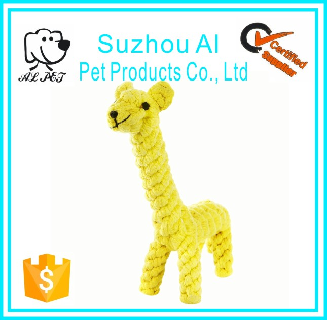 Pet Toys Giraffe Puppy Chew Dog Toys Cotton Dental Teaser Rope Teeth Cleanning Toy