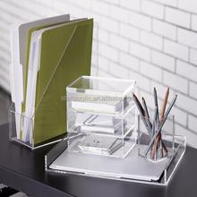 Multifunctional Clear acrylic desktop organizer desktop accessories mix