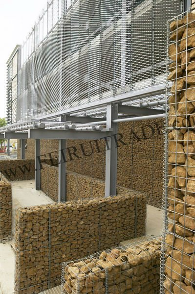 welded gabion box/wire mesh/stone cages/decorative wall