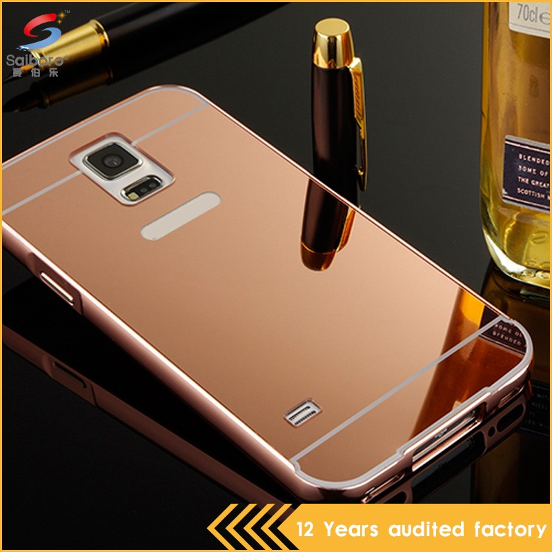 Fast delivery tpu plating mirror case for samsung galaxy s5 mini