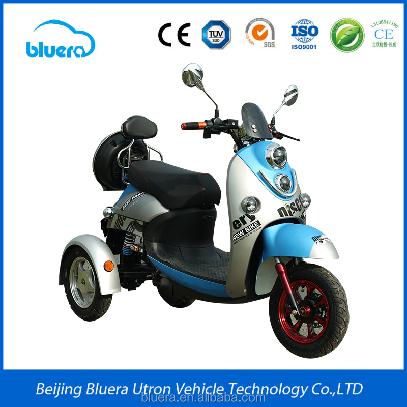 Security 48V 500W moped three wheel electric tricycle adults for handicapped