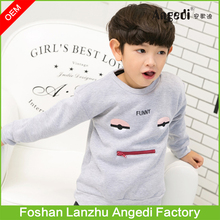 Bulk wholesale kids crewneck sweatshirt with pockets