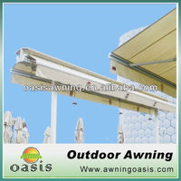 Two side awning double side retractable awnings