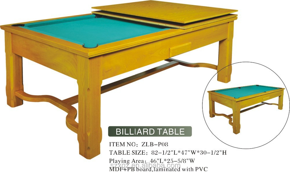 hot sale family dining pool table,Multi function home style dinning pool table/billiard table