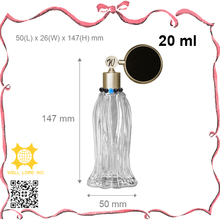 Hot black perfume bulb slender glass atomizer with beads decoration