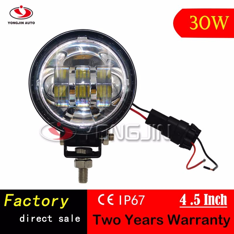 4.5 Inch 12V Super Bright Off road 30W LED Truck Tractor Machine Work Light