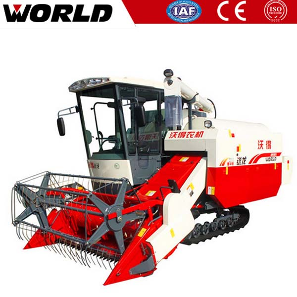 efficient hot WORLD 4LZ-4.0E mini paddy rice combine harvester machine price in Philippines
