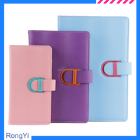 Organizer with bright color cover leather band closure