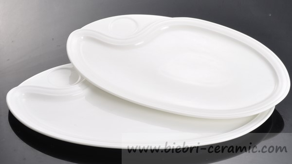 soup popular color glazed commercial oval plate