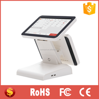 Cashcow 12 inch dual touch screen cashier machine