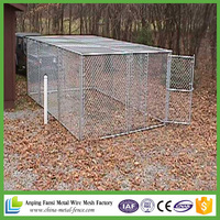 Wholesale High quality new design galvanized chain link galvanized double dog kennel for sale