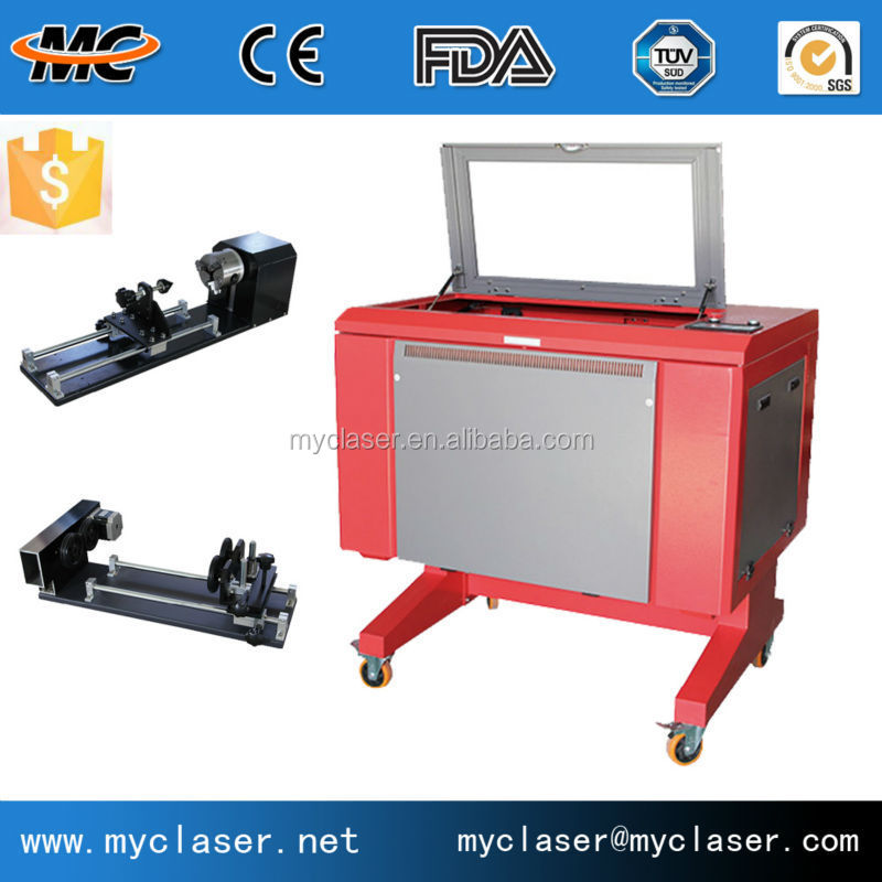 cheap mini leather wood craft ceramic tile co2 acrylic laser engraving cutting machine MC6040