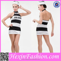 Cheap Fashion Black and White Prisoner Unique Sexy Costumes